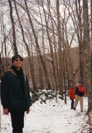 Jim tosses in woods 1