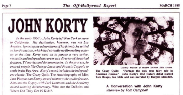 John Korty interview
